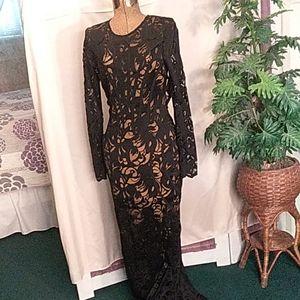 Dance & Marvel black lace dress size L